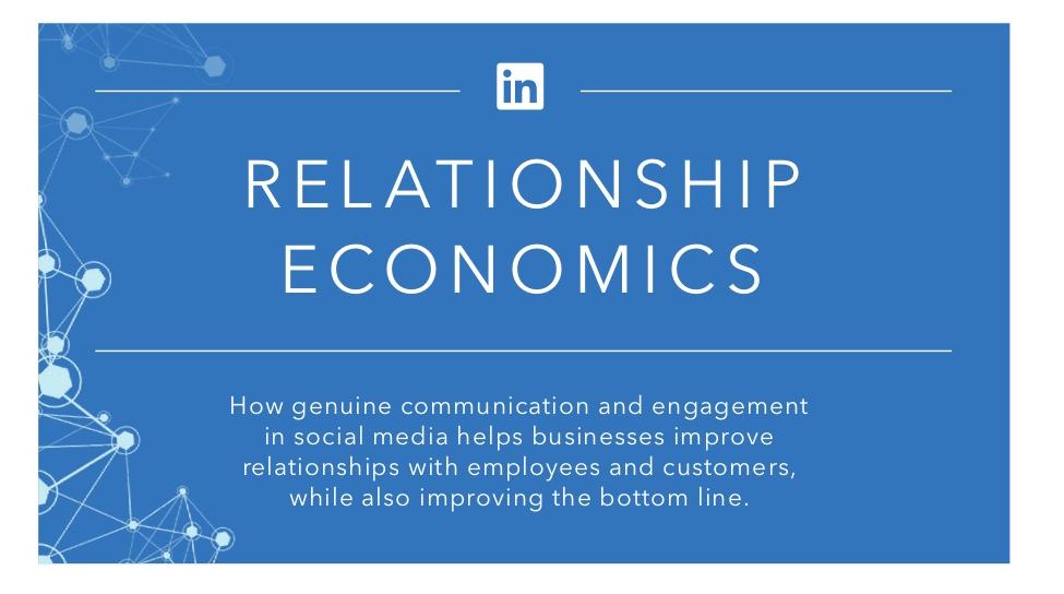 Relationship Economics: Cómo el Social Media mejora las relaciones en la empresa