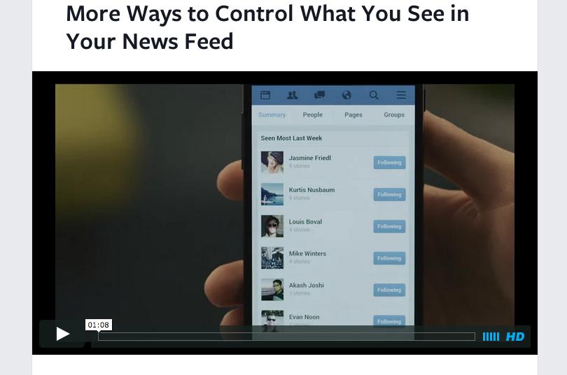 Facebook facilita eliminar contenido basura del News Feed