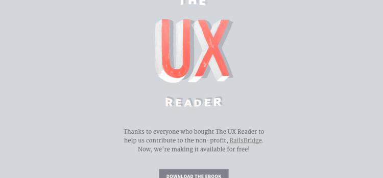 The UX Reader el libro gratuito publicado por MailChimp