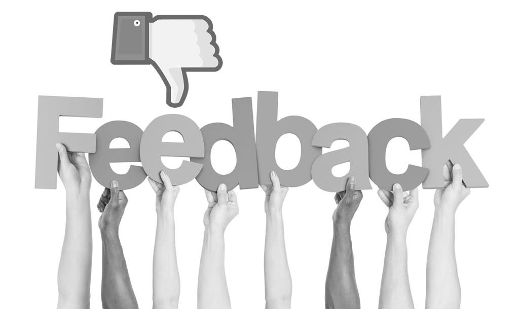 el feedback negativo en social media