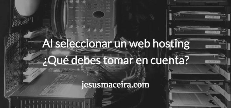 Cómo seleccionar el web hosting de tu sitio web