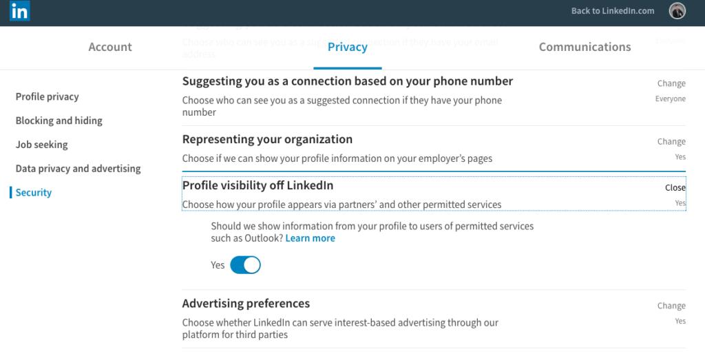 La reciente actualización de LinkedIn