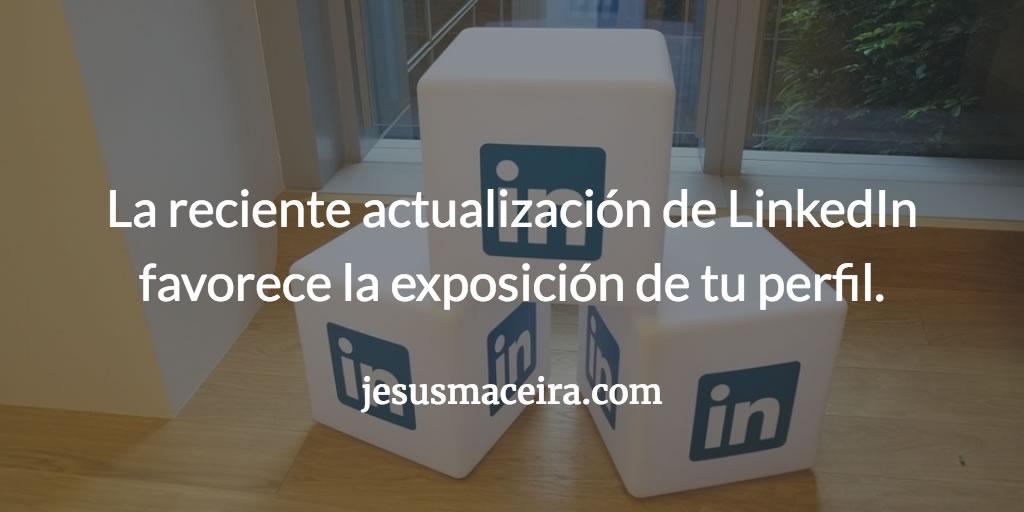 LinkedIn actualización reciente