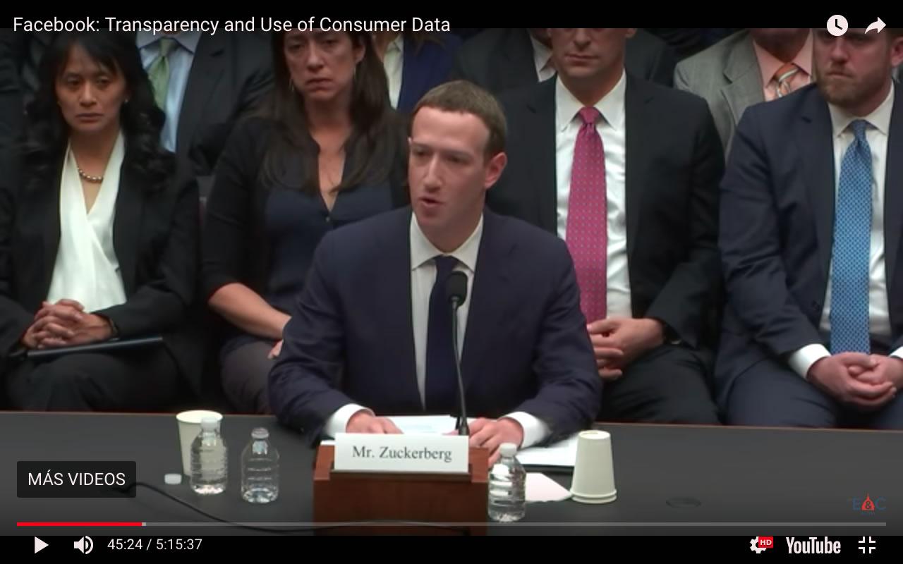 Mark Zuckerberg ante el congreso