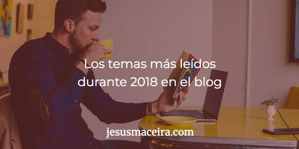 artículos más leídos durante 2018